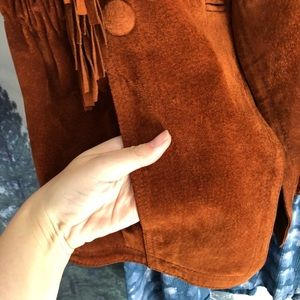 Vintage Jackets & Coats - More photos suede leather fringe vintage jacket